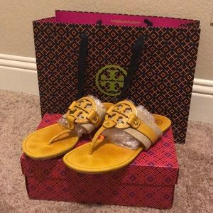 Yellow Tory Sandals